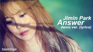 Jimin Park - Answer (Demo Version)