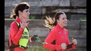 Becky and Alanna run the Boston Marathon
