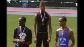Northeast Youth Invitational - Icahn Stadium - Youth Boys 200m - KJ collecting his medal
