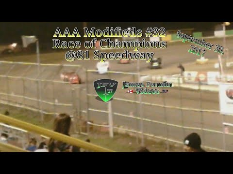 AAA Modifieds #36, Auto Craft Race of Champions, 81 Speedway, 2017