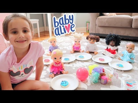 Baby Alive Birthday Party (Presents and Cookies)