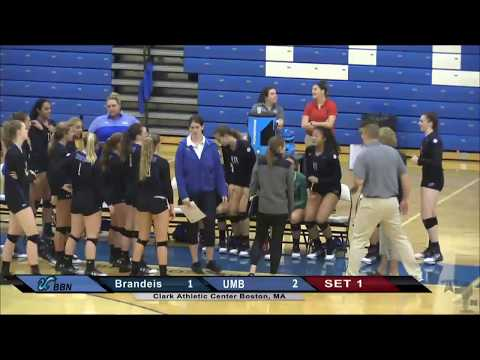 UMass  Boston Volleyball vs Brandeis University Webcast (9/14/16)