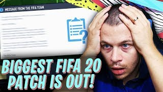 FIFA 20 BIGGEST TITLE UPDATE (PATCH) IS OUT! FITNESS GLITCH FIXED! ANIMATION RESPONSIVENESS GLITCH!