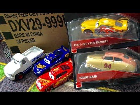 New Disney Cars 3 toys Diecast Cars Case L Louise Nash Rusteze Cruz Ramirez 🔴 Live Toy Unboxing Show