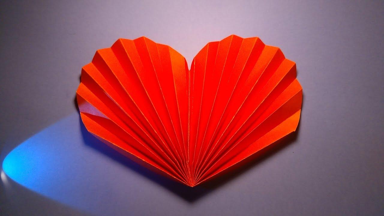 Jak zrobic serce harmonijkowe z papieru - paper heart - YouTube
