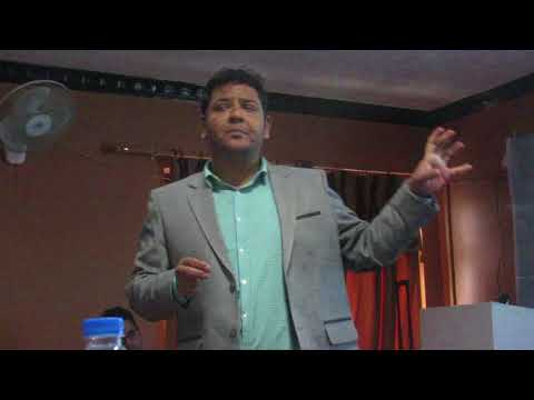 Advocate  Prabin Subedi delivering his presentation on Cyber Law in Nepal