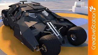 Batman Car  - 3D Speed art modelling (#Cinema4D)   CreativeStation