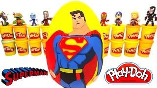Huevo Sorpresa Gigante de Superman en Español Plastilina Play Doh