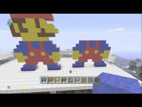 Minecraft Xbox 360|Tutorial Pixel Art| Como hacer a Mario Bros.