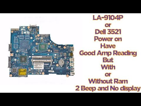 Dell laptop power on, but no display and two beep solution by