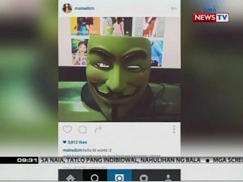 SONA: Social media accounts at e-mail ni Maine Mendoza, na-hack ng Anonymous Philippines