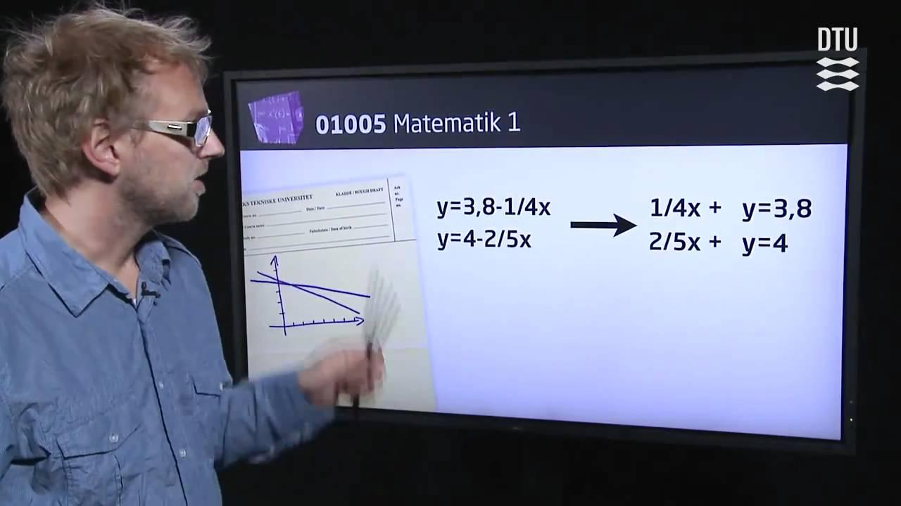 Uge 1: Introduktion til Matematik 1