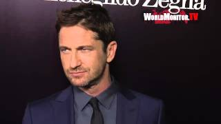 Gerard Butler arrives at Ermenegildo Zegna Global Store Grand Opening on Rodeo Drive