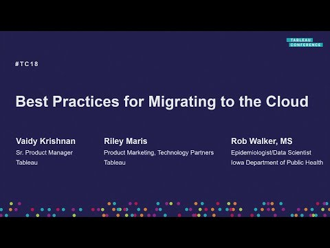 Best practices for migrating to the cloud