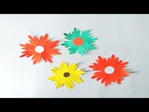 Simple & Easy Paper Flowers    Flower Making    DIY Paper Flowers