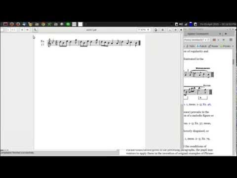 Workflow: Putting musical examples into music theory textbook