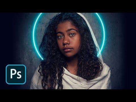 Neon Halo Light Effect Photoshop Tutorial