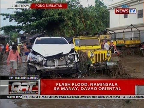QRT: Flash flood, naminsala sa Manay, Davao Oriental