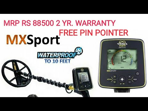 WHITES MX SPORTS GOLD DETECTOR METAL DETECTOR AIR TEST IN INDIA