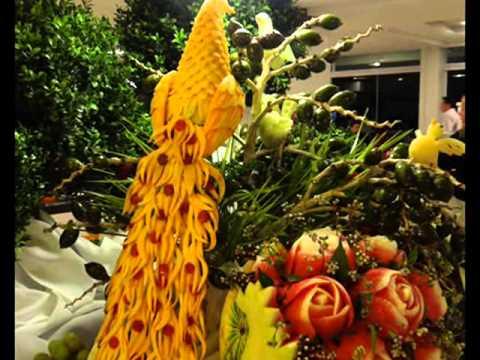 Карвинг из фруктов и карвинг из овощей