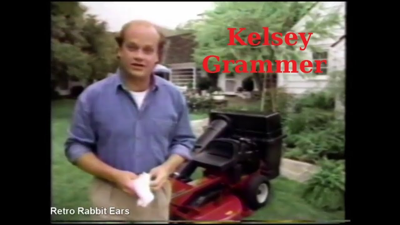 Kelsey Grammer Sner Lawn Mower Commercial From 1992 Retro Rabbit Ears