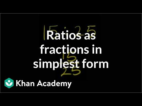 Ratios as fractions in simplest form | Pre-Algebra | Khan Academy