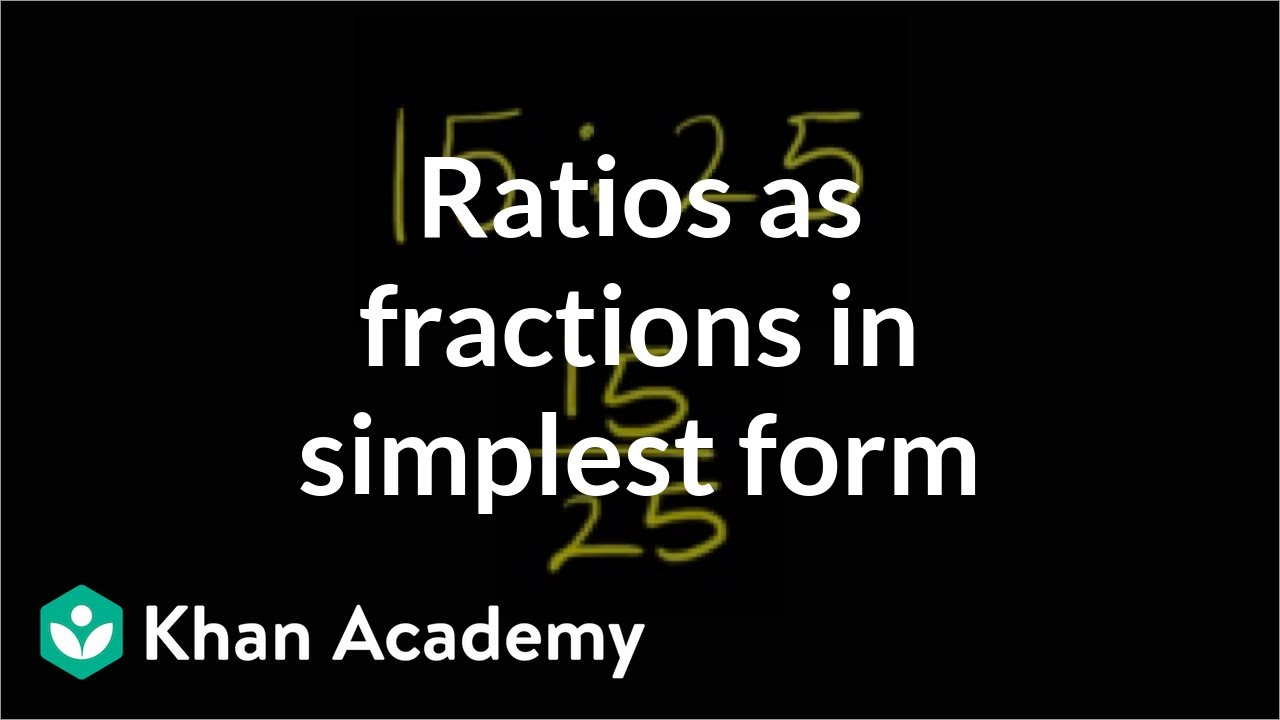 simplest form calculator ratio  Ratios as fractions in simplest form | Pre-Algebra | Khan Academy