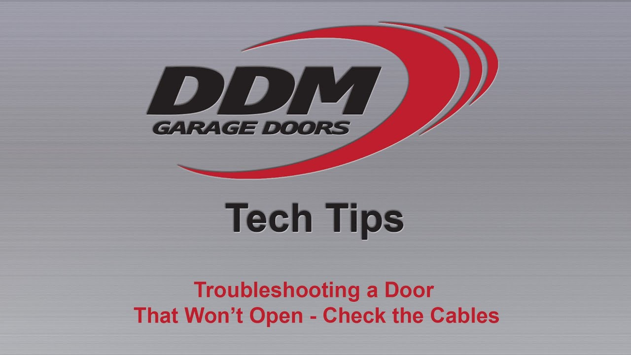 DDM Tech Tips Troubleshooting A Door That Wonu0027t Open   Check The Cables