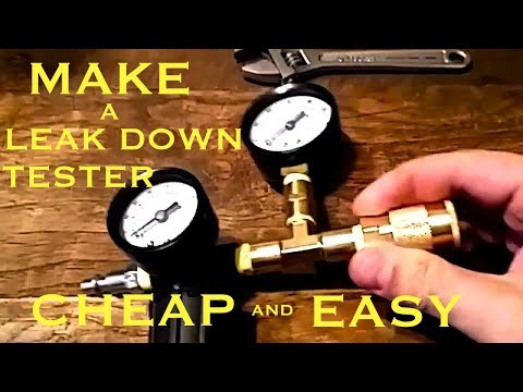 How to make a Leak Down Tester- with Harbor freight parts