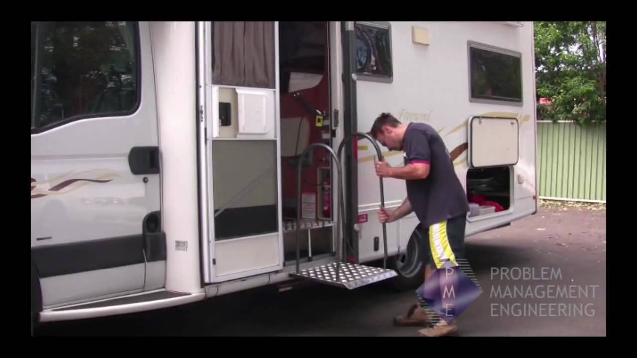 Pme Liftmaster Rv Platform For Mobile Home Access Youtube