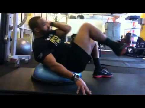 Bosu ball ab workout with Chauncey Golds Gym Fitness ...
