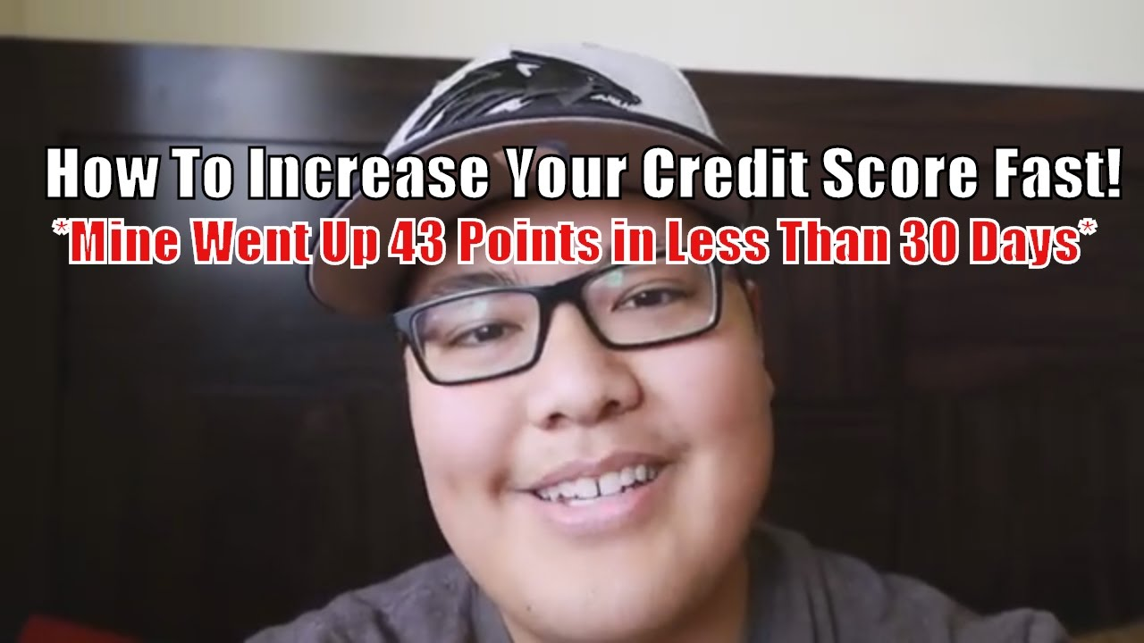 How To Increase Credit Score Fast In Less Than 30 Days!