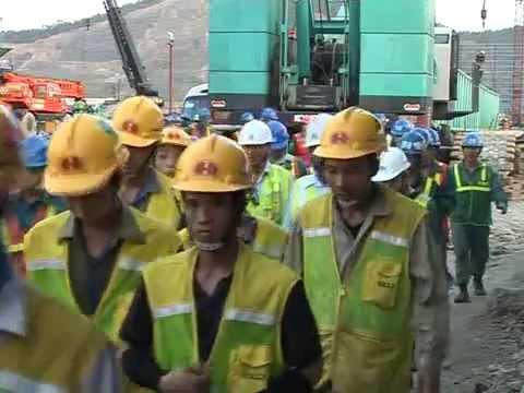 Lắp đặt nhà máy nhiệt điện Mông Dương 1