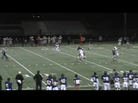 Solomon Enis #21 96 yard catch and run TD