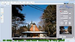 Use Photoshop Patch Tool plugin under Paint.NET