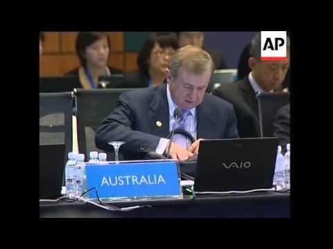 Finance ministers meet, APEC leaders begin to arrive