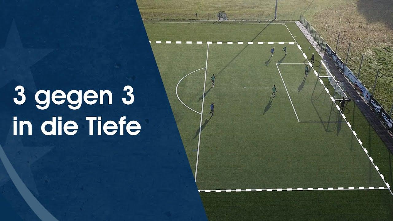 3 gegen 3 in die Tiefe – Fußballtraining am Deutschen Fußball Internat