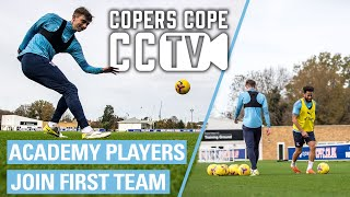 ACADEMY PLAYERS JOIN FIRST TEAM | CCTV