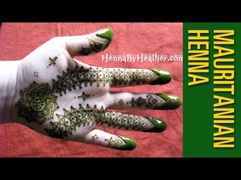 Mauritanian Henna Design - with How To instructional notes
