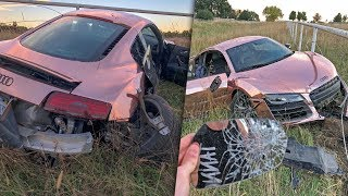 Telling the story of how my friend and I crashed my r8 on October 1...