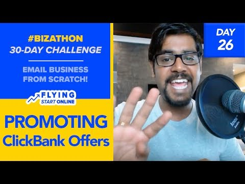 Sending Newsletters: Promote Clickbank Products With Email List - (Day 26/30)  #Bizathon