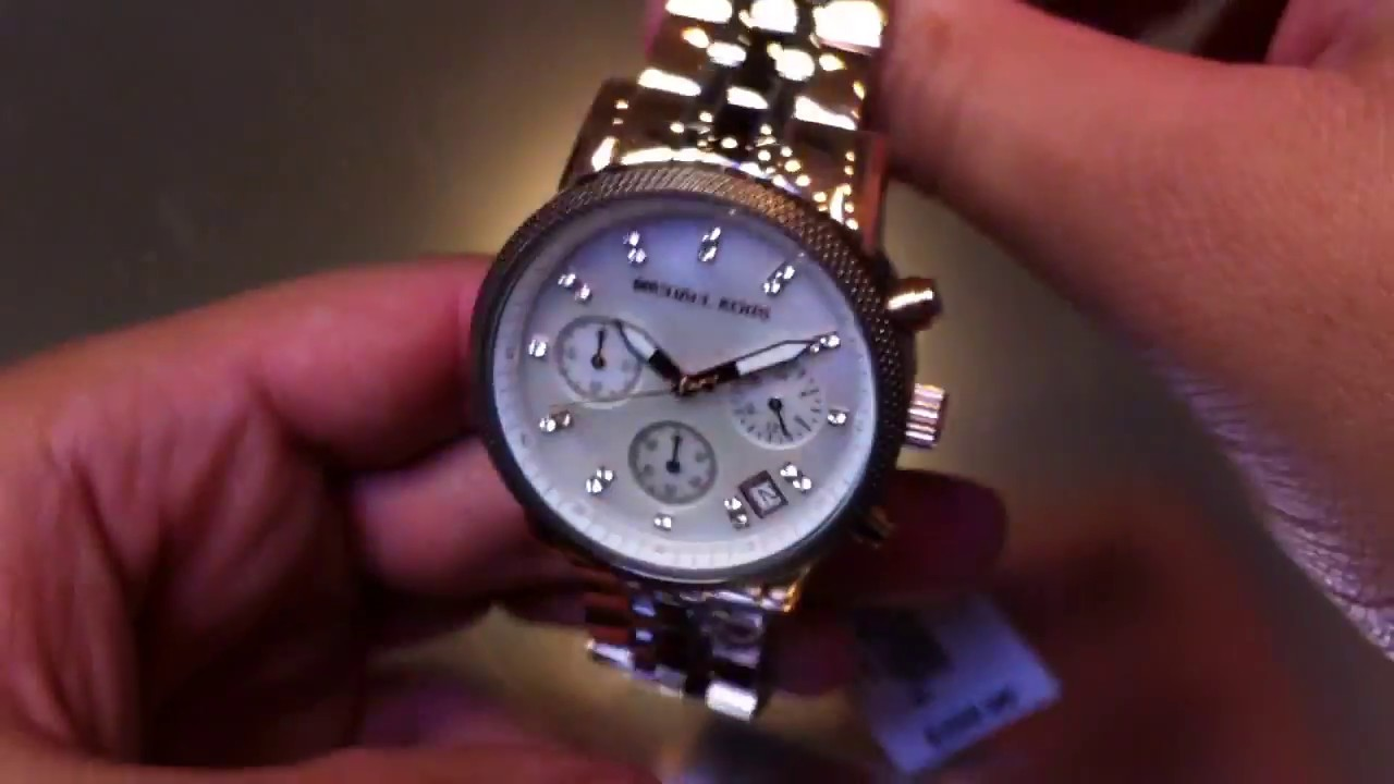 52c28b75bd3e Women s Michael Kors Ritz Tricolor Chronograph Watch MK5642 - YouTube
