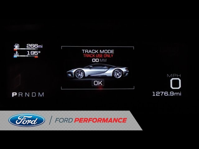 All-New Digital Cluster in 2017 Ford GT | Ford GT | Ford Performance