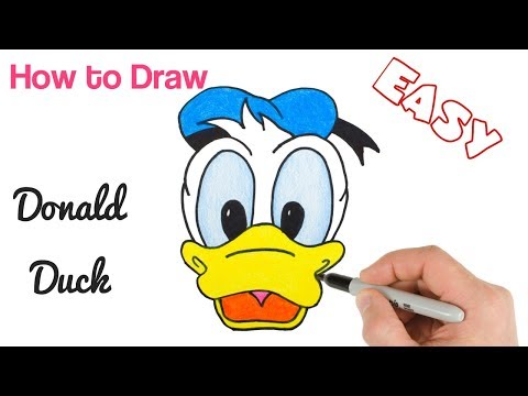 How To Draw Donald Duck | Disney Characters Drawings For Beginners