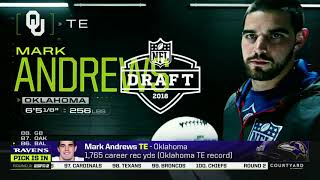 Baltimore drafts Mark Andrews in the 3rd Round(ESPN)