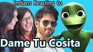 Indians React to Dame Tu Cosita Challenge | Shahid Kapoor - Rajvee Gandhi | Say Whaaat!