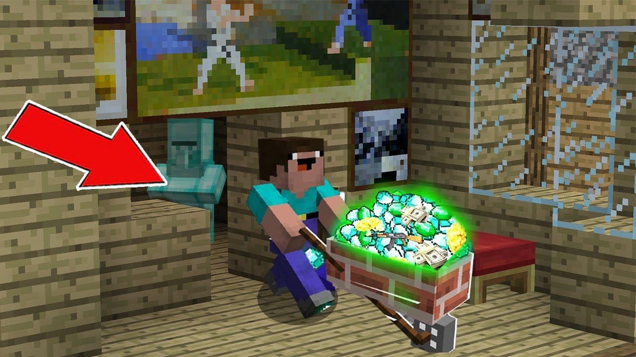 Minecraft NOOB vs PRO : HOW NOOB FOUND THE SECRET TREASURE ROOM? Challenge 100% trolling!