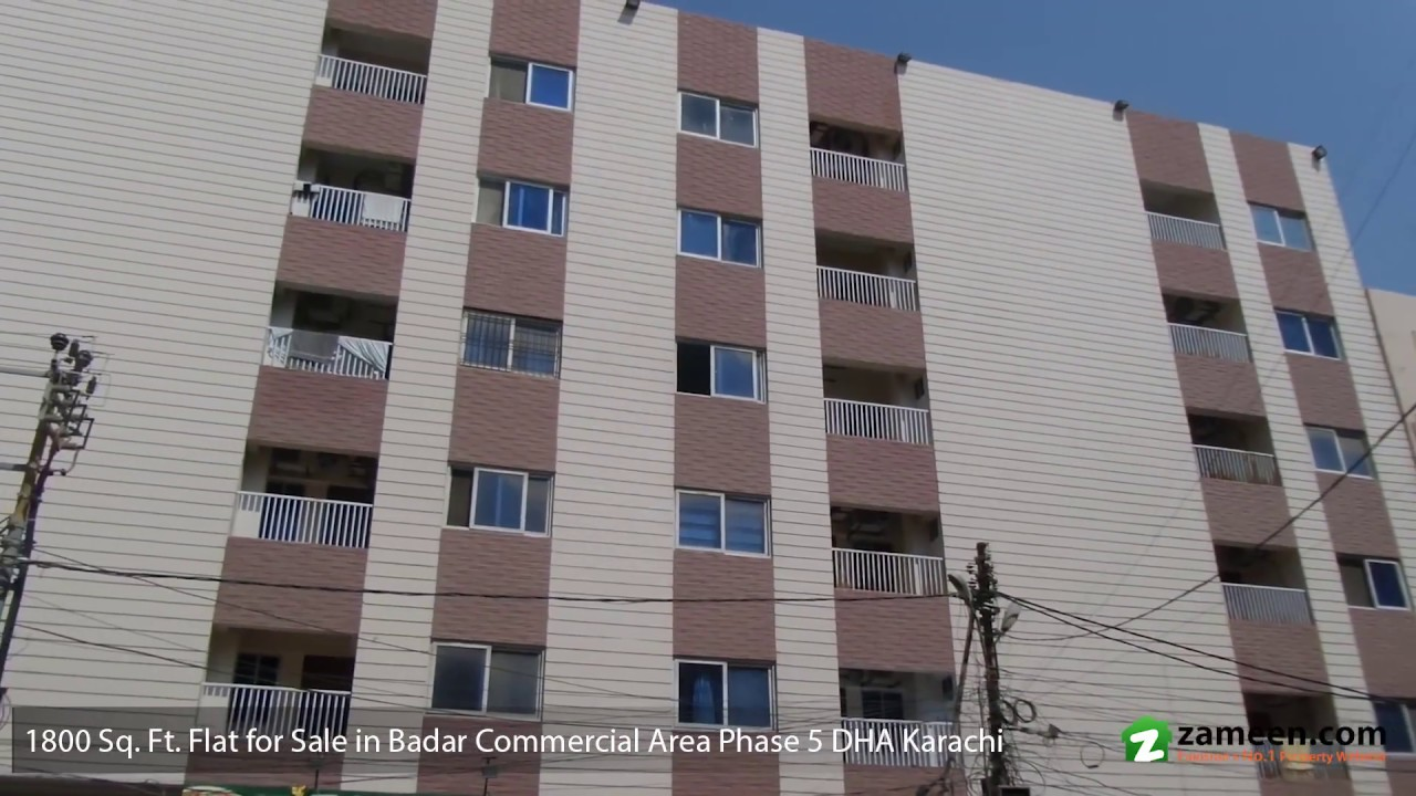1,800 Sq  Ft  3 BED ROOM BEAUTIFUL APARTMENT FOR SALE IN BADAR COMMERCIAL  AREA DHA KARACHI