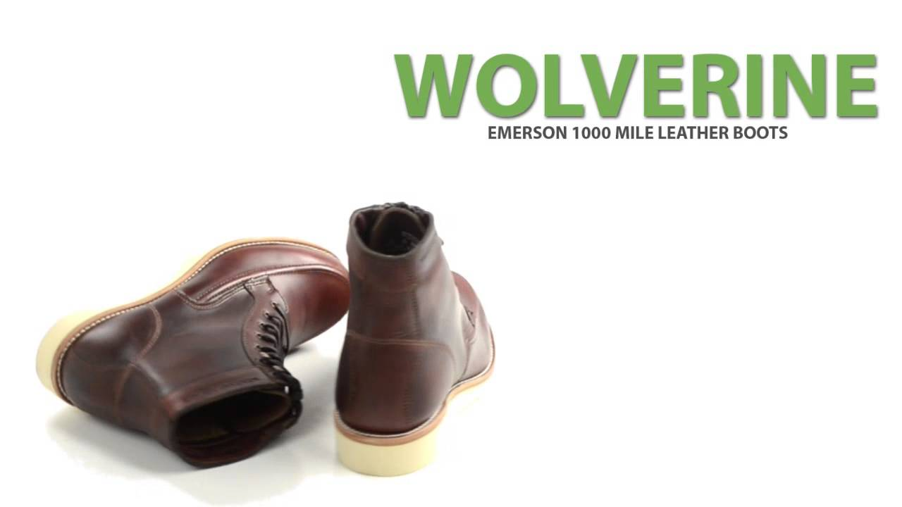 27d68c3bf2f Wolverine 1000 Mile Emerson Boots (For Men)