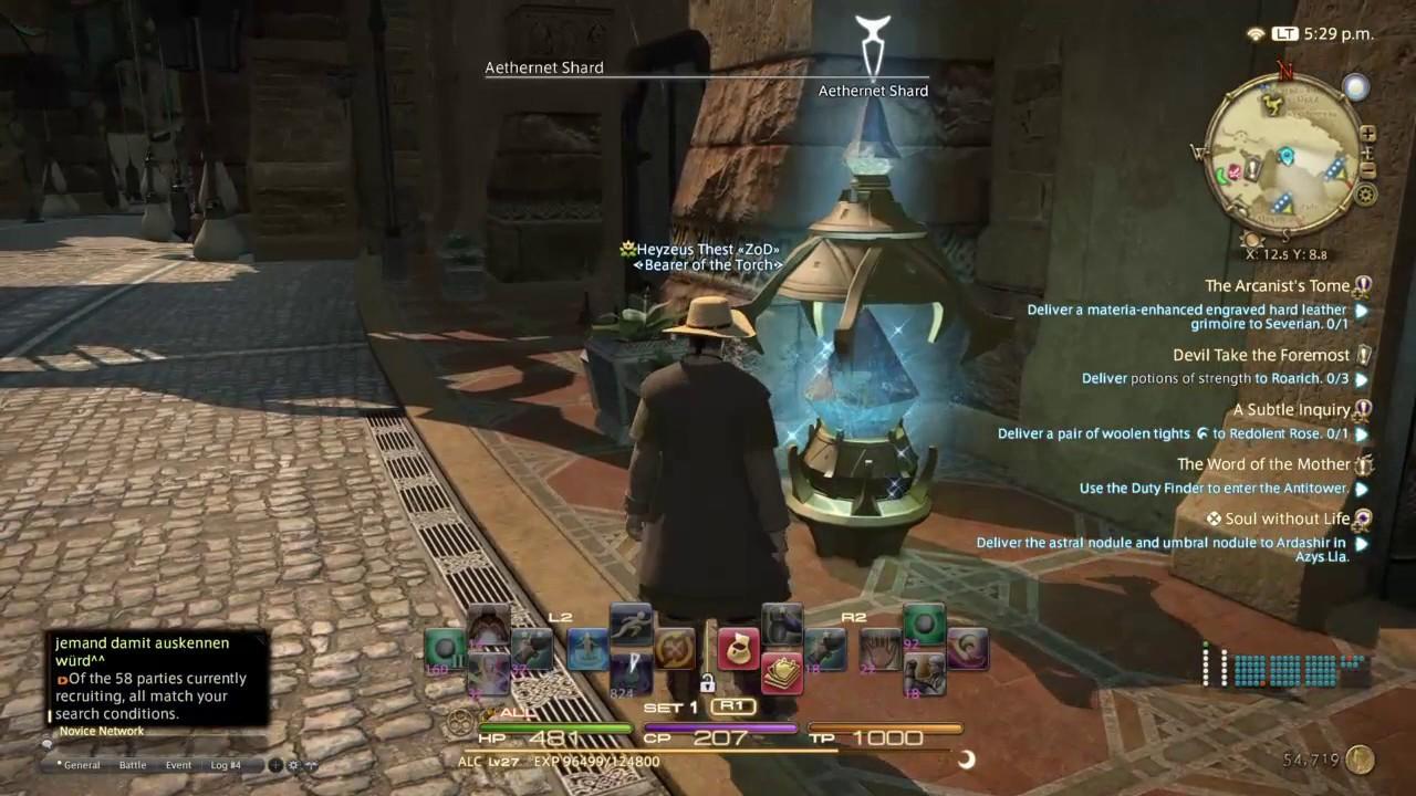 Final Fantasy Xiv Nem og hurtig måde at Level Up Alchemist Class - Youtube-2105